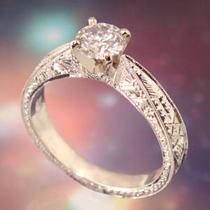 Ring Egyptian Filigree Engagement Ring